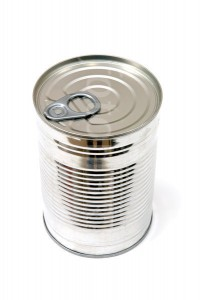 Unopened aluminium tin can